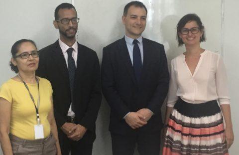 A presidente da Aggeb, Daniella Gomes, participou da assinatura do acordo de cooperação técnica envolvendo TJBA, SEAP e AGGEB