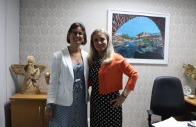Daniella, presidente da Aggeb, e a deputada Ivana Bastos