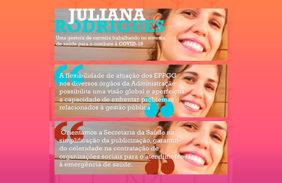 Juliana Rodrigues, uma gestora de carreira trabalhando no sistema de saúde para o combate à COVID-19